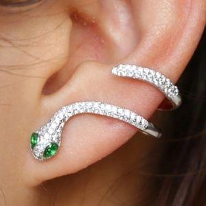 New Snake Earrings Ear Cuff Set Stainless Steel